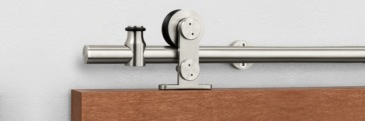 The Pemko Stainless Steel Sliding Track Hardware System Adds Industrial  Style To Modern Decor With Multiple Hanger Designs Including Several With A  Unique ...