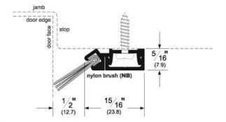 Pemko 29346_NB Brush Seal/45 Degree Concealed Fastener Retainer from ASSA ABLOY