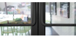 Storefront Door - Black Suede Powder Coat Finish